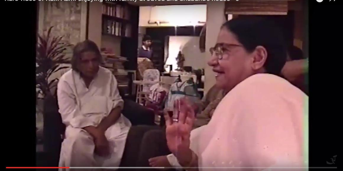 Rare videos of Kaifi Azmi enjoying with family at Javed and Shabana's house